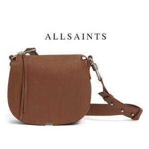 ALLSAINTS Captain Leather Round Bag